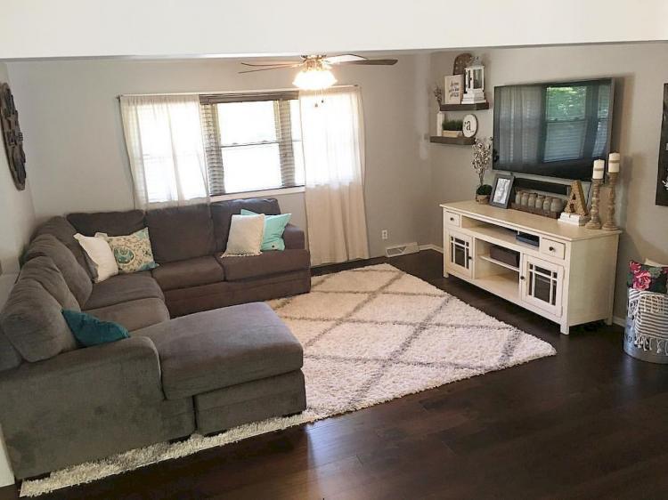 65 Comfortable Farmhouse Living Room Design Ideas