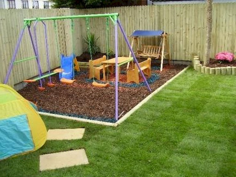 29 Magnificent Small Backyard Playground Landscaping Ideas