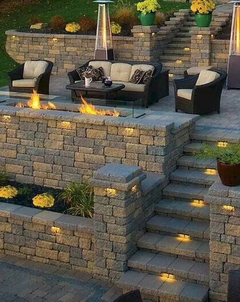 34+ Simple and Cheap Fire Pit and Backyard Landscaping Ideas on Simple Patio Designs With Fire Pit id=32127