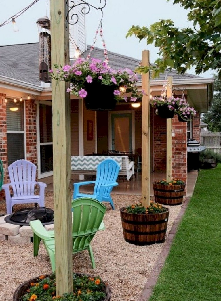80+ Lovely Easy DIY Backyard Seating Area Ideas on A Budget on Backyard Patio Designs On A Budget id=47924