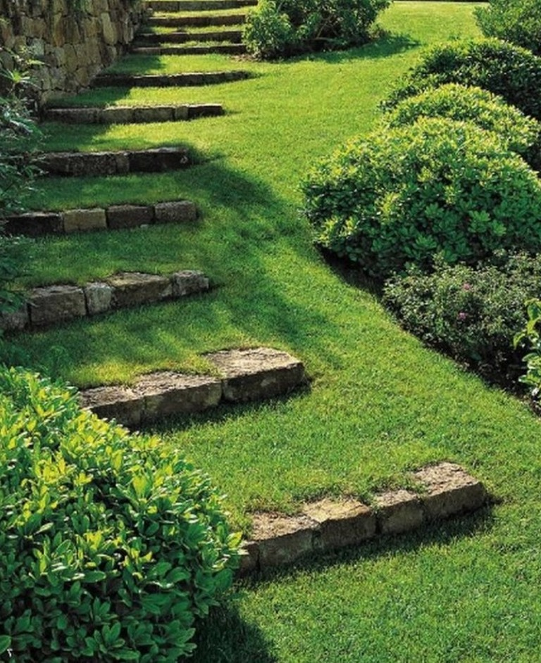 21 Landscaping Ideas For Slopes: Landscape Steps On A Slope